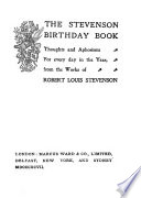 The Stevenson Birthday Book