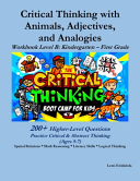 Critical Thinking With Animals Adjectives And Analogies Book