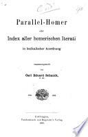 Parallel - Homer oder Index aller homerischen Iterati in lexikalischer Anordnung