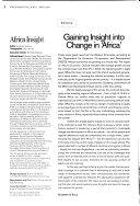 Africa Insight Book