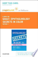 Ophthalmology Secrets in Color - Pageburst E-book on Vitalsource Retail Access Card