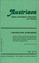 Austriaca, n°12 - L'architecture autrichienne