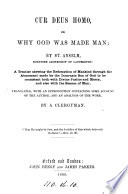 Cur Deus homo  or Why God was made man  tr   with an intr  and an analysis  by a clergyman  W R B  Brownlow