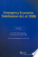 Emergency Economic Stabilization Act of 2008 Book
