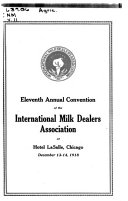 Proceedings of the     Annual Meeting of the International Milk Dealers Association