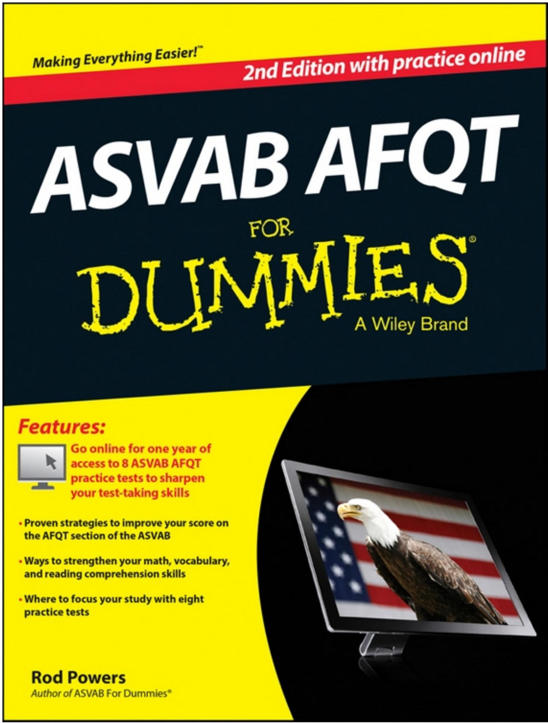 ASVAB AFQT For Dummies  with Online Practice Tests