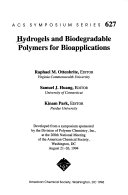 Hydrogels And Biodegradable Polymers For Bioapplications Book PDF