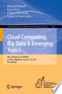 Cloud Computing  Big Data   Emerging Topics