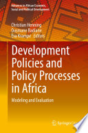 Development Policies and Policy Processes in Africa Book