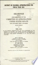 District of Columbia Appropriations for Fiscal Year 1991