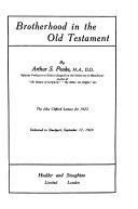 Brotherhood in the Old Testament