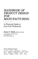 Handbook of Product Design for Manufacturing Book