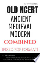 3 Books Combined (Ancient Medieval & Modern India) Old NCERT Histroy Book Series for Civil Services Examination by DP (PDF Format) (English) Complete 3 in 1book