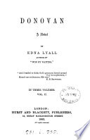 Donovan  a novel  by Edna Lyall