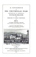 Pdf A Catalogue of 3735 Circumpolar Stars Observed at Redhill in the Years 1854, 1855, and 1856