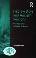 Hebrew Bible and Ancient Versions [Pdf/ePub] eBook
