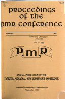 Proceedings of the PMR Conference Book