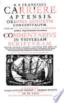 Commentarius in universam Scripturam