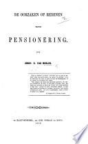 De oorzaken of redenen mijner pension  ring Book