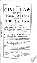 The Civil Law in Its Natural Order