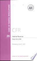 Code Of Federal Regulations Title 26 Internal Revenue Pt 50 299 Revised As Of April 1 2011