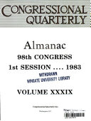 Congressional Quarterly Almanac, 1983