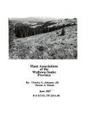 Plant Associations of the Wallowa Snake Province