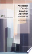 Annotated Ontario Securities Legislation