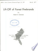 Lift-off of Forest Firebrands