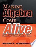Making Pre Algebra Come Alive