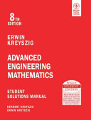 ADVANCED ENGINEERING MATHEMATICS  STUDENT SOLUTIONS MANUAL  8TH ED