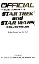 The Official Price Guide to Star Trek and Star Wars Colllectibles