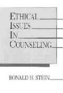 Ethical Issues In Counseling Book