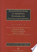 State-By-State Guide to Architect, Engineer, and Contractor Licensing