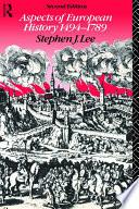Aspects of European History 1494-1789