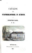 Catalog der Stadbibliothek in Zürich ...