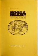 Historical Metallurgy Book