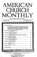 The New American Church Monthly