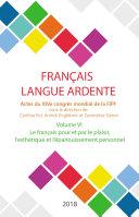 Pdf Le français pour et par le plaisir, l'esthétique et l'épanouissement personnel Telecharger