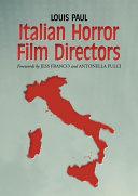 Italian Horror Film Directors