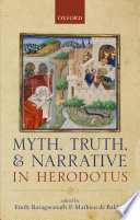 Myth  Truth  and Narrative in Herodotus