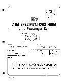 AMA Specifications Form   Passenger Car  Plymouth Barracuda  1972
