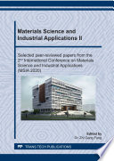 Materials Science And Industrial Applications Ii Book PDF