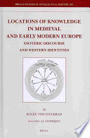 Locations of Knowledge in Medieval and Early Modern Europe