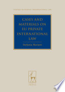 Cases and Materials on EU Private International Law