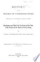 Report Of The Board Of Commissioners Appointed By Chapter 466 Of The Laws Of 1886