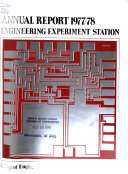 Annual Report   University of Wisconsin  Madison  Engineering Experiment Station