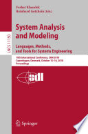 System Analysis and Modeling  Languages  Methods  and Tools for Systems Engineering