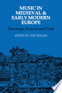 Music in Medieval and Early Modern Europe