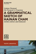 Pdf A Grammatical Sketch of Hainan Cham Telecharger